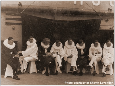 """The """"Funny Party"""" aboard Hood, 1920"""
