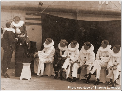 """Another view of the """"Funny Party"""" aboard Hood"""