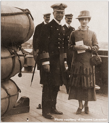 Captain WIlfred Tomkinson and the Queen of Norway