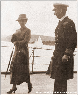 The Queen of Norway with RADM Sir Roger Keyes