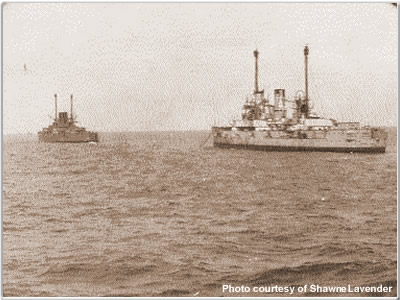 German warships enroute to surrender at Scapa Flow, 1920