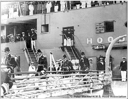 Senior officers leaving the ship