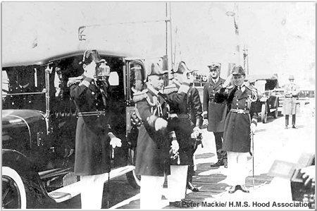 Senior officers ashore