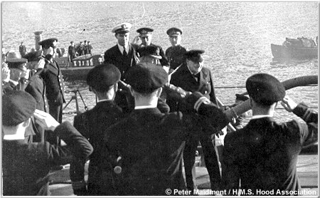 Winston Churchill comes aboard the Hood, March 1941