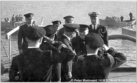 Capt Kerr greets Winston Churchill