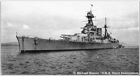 Hood off Scotland, late 1940