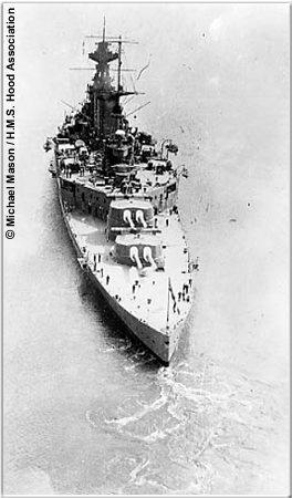 Overhead view of Hood in 1930s