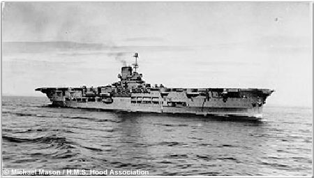 The aircraft carrier H.M.S. Ark Royal