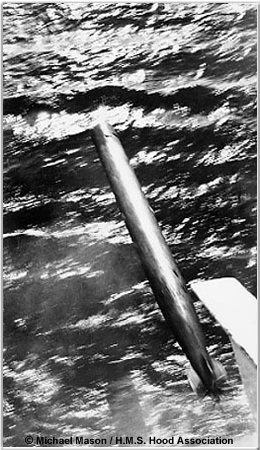 21 inch torpedo launched from Hood
