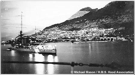 H.M.S. Dunedin off Gibraltar, 1930s