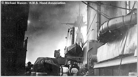 A view aft during the Battle of Mers el-Kebir, July 1940