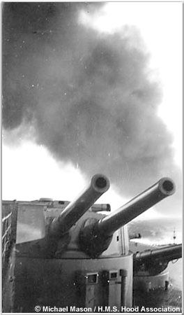 Hoods rear turrets during the Battle of Mers el-Kebir, July 1940