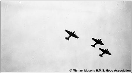 Italian Caproni bombers attacking Force H, July 1940