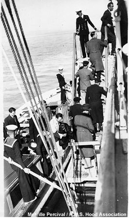 Refugees aboard Hood in 1938