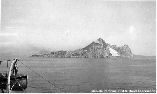 Gibraltar as seen from aboard Hood