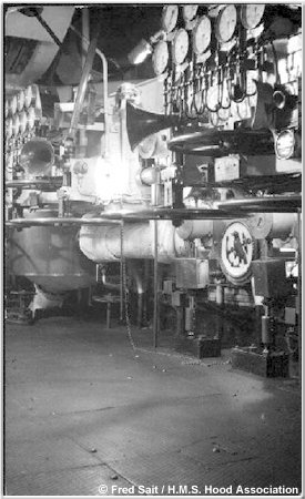 An engine room aboard H.M.S. Hood