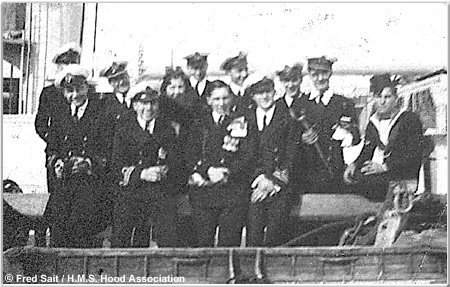 H.M.S. Hood ratings dressed as officers