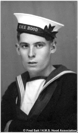 Fred Sait during his time in H.M.S. Hood