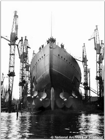The stern of H.M.S. Hood