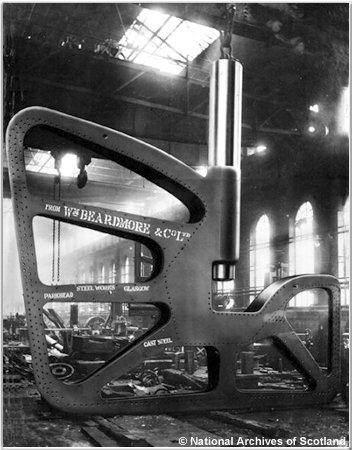 H.M.S. Hoods rudder frame