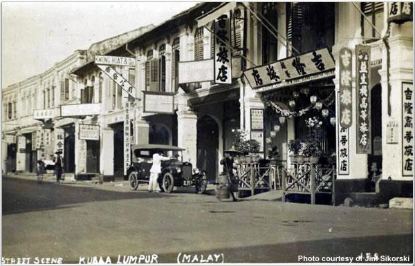 Typical street scene in Kuala Lumpur