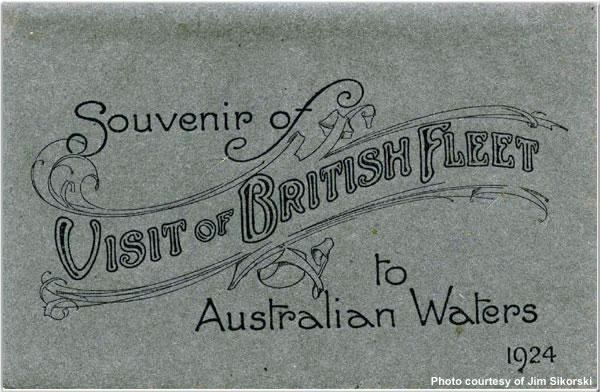Souvenir of Visit of British Fleet to Australian Waters, 1924