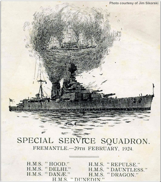 Souvenir of the visit to Fremantle/Perth, Feb 1924