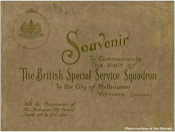 Souvenir of the Special Service Squadron's visit to Melbourne, Australia, Mar 1924