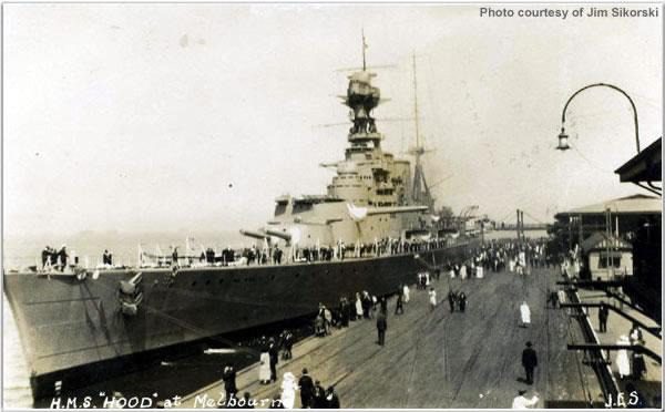 H.M.S. Hood at Melbourne, Australia, March 1924