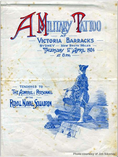 Invitation to a Military Tattoo at Victoria Barracks, Sydney, Australia, 17 April 1924