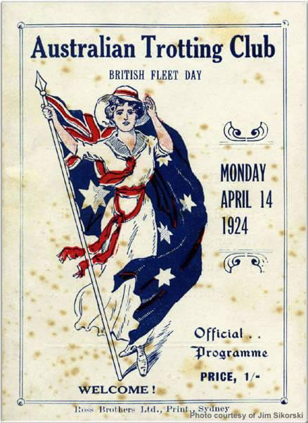 Australian Trotting Club flyer, April 1924