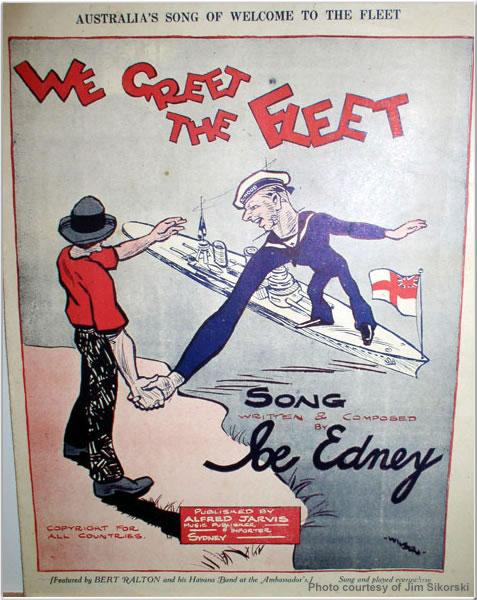 Sheet music from Hood's visit to Sydney, Australia, April 1924
