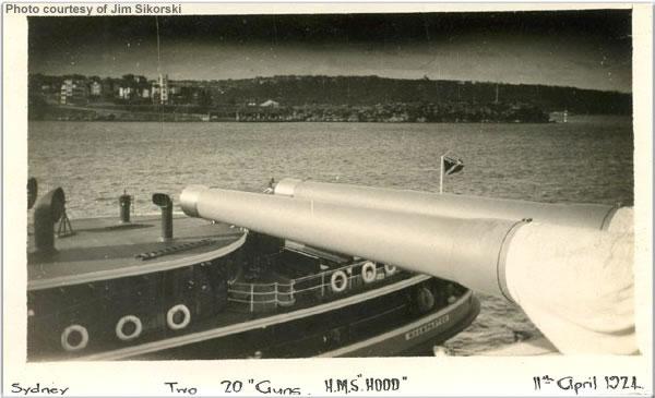 Hood's guns, Sydney, April 1924