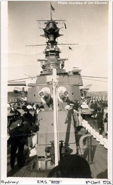 Australians aboard Hood in Sydney, April 1924