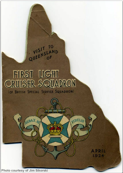 Souvenir of 1st Light Cruiser Squadron's visit to Brisbane, Australia, April 1924