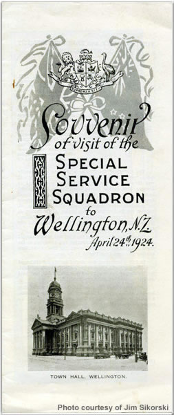 Souvenir of the visit of the Special Service Squadron to Wellington, New Zealand, April 1924