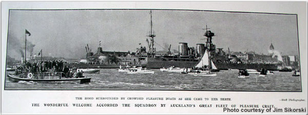 H.M.S. Hood at Auckland, New Zealand, May 1924
