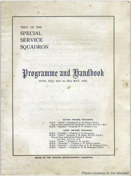 Programme and handbook for Suva, Fiji, May 1924