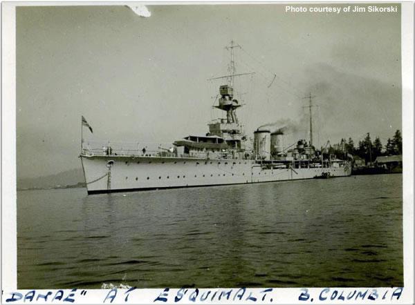 H.M.S. Danae at Esquimalt, British Columbia, Canada, June 1924