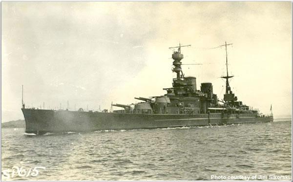 H.M.S. Repulse at Victoria, British Columbia, Canada, June 1924