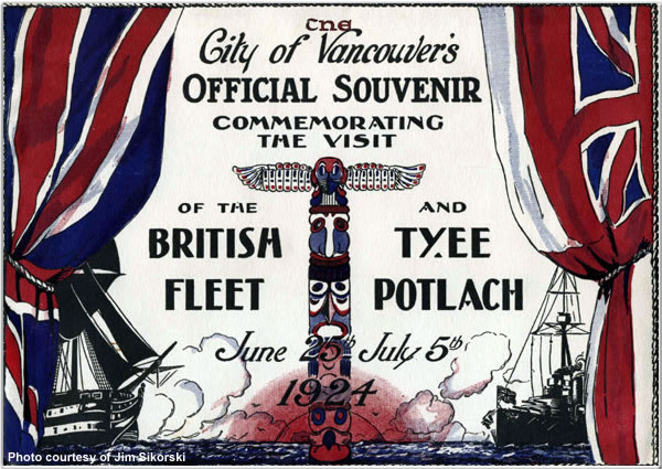 Souvenir of the visit to Vancouver, British Columbia, Canada, June-July 1924