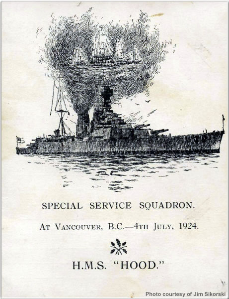 Special Service Squadron pamphlet for visit to Vancouver, British Columbia, Canada, July 1924
