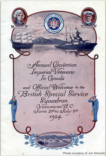 Imperial Veterans in Canada official welcome notice