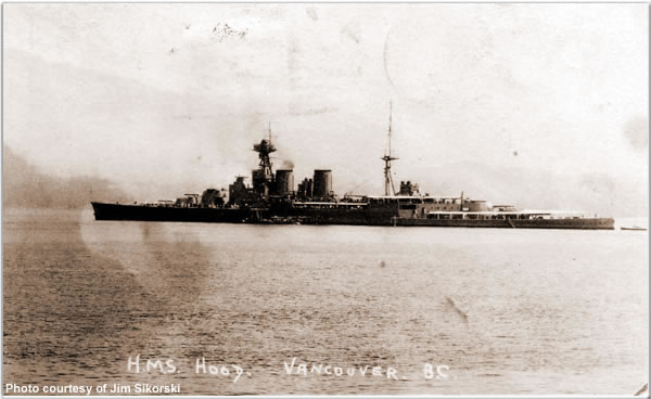 H.M.S. Hood in Vancouver, British Columbia, Canada, June/July 1924