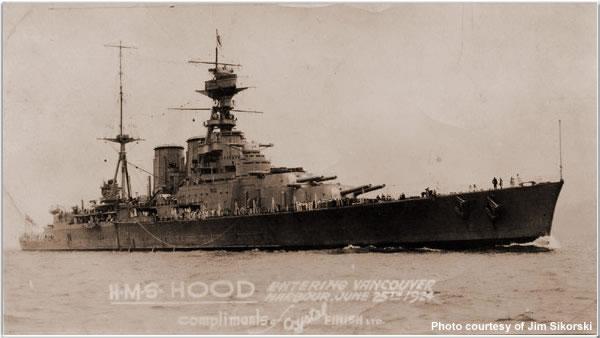 H.M.S. Hood in Vancouver, British Columbia, Canada, June 1924