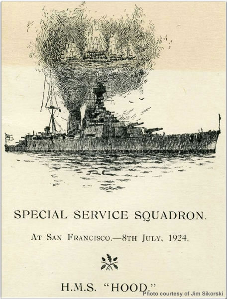 Notice for Special Service Squadron's visit to San Francisco, USA, July 1924