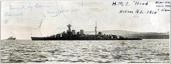 H.M.S. Hood in Halifax, Nova Scotia, August 1924