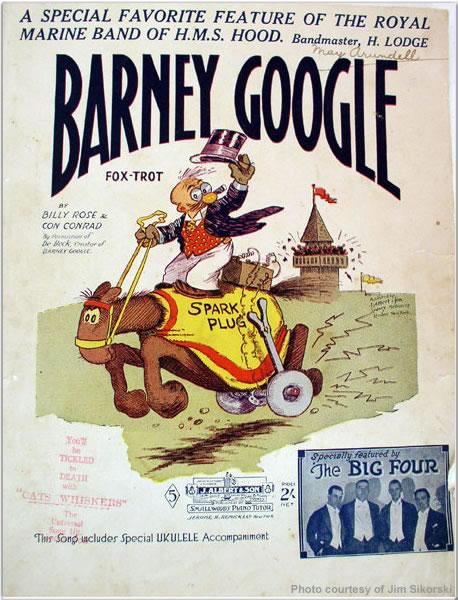 Sheet music for the Barney Google Fox-Trot