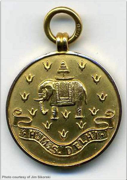 Football medal won by ERA P. Honton, 1923