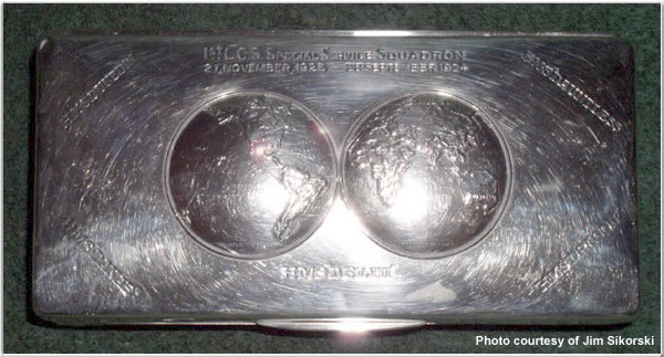 Silver plated commemorative case from World Cruise of the Special Service Squadron, 1924